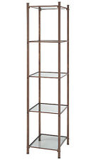 Open Display Tower Cobblestone 18� W x 18� x 77� H Shelves Boutiques Salons