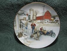 """1993 Harley Davidson """"Christmas Vacation"""" Limited Edition Nos Collector Plate!"""