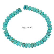 """7.9"""" Genuine Chinese Turquoise Rondelle Beads 8mm Sky Blue #82206"""