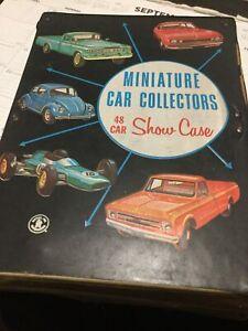 Vintage 1966 Mattel Miniature Car Collectors 24 Car Show Case w/ 10 Cars