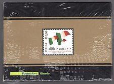 2011 Italia/Italy 150° Francobollo in argento Unità d'Italia Tiratura 5000 MNH**