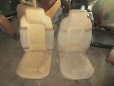 Fiat X19 X/19 Bertone Seat Set White with Brown Inserts Complete with Frames