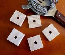 5 x Plain Pine Wood Square Slices 3x3x1cm - Pet Rabbit Parrot Bird Toy Part