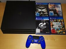 Sony PlayStation 4 pro 1t TB mit 2 Controller und 4 Spiele PS4 OVP