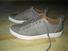 ALDO Men's Gray Leather/Canvas Fashion Lace up Sneakers Athletic Shoes Size 8