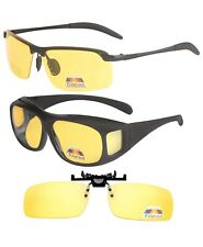 Gafas de visión nocturna 3 para la conducción de conjunto + Estuche Antirreflejo Unisex