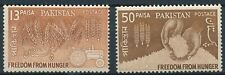 Pakistan 1963 SG 184-5 MNH Freedom from Hunger