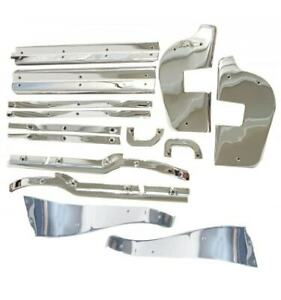 Mercedes-Benz 16-Piece Chrome Door Trim Kit W113 230SL 250SL 280SL