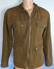 ALL-SON Men Jacket Large Urban Outfitters Field Coat Olive Green EUC Zip Sz 40