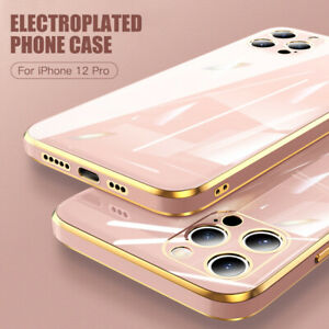 Case For iPhone 12 11 Pro Max X 8 7 SE 2 XS XR Shockproof Plating Silicone Cover