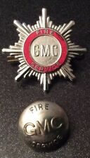 Vintage ( GMC Fire Service) Greater Manchester Enamel badge And Uniform Button