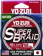 Yo-Zuri YZSB40LBDG150YD SuperBraid Line 40lb 150yd Green Boxed