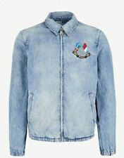 NWT POLO RALPH LAUREN CROSS FLAG DENIM HARRINGTON JEAN JACKET XXL NEW RETRO