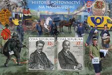 Czech Rep 2017 MNH J. Stribrny M. Fatka 2v M/S Postal History Politicians Stamps