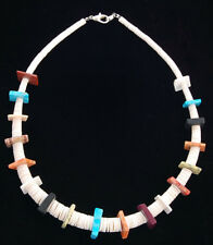 Native American Indian Jewelry Handmade Multi-Stone Bead Necklace