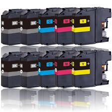 10 Drucker Patronen für BROTHER LC221BK LC221M LC221Y LC221C mit Chip