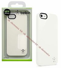 NEW Genuine UK Belkin Shield Hard Protective Case Cover White for Apple iPhone 5
