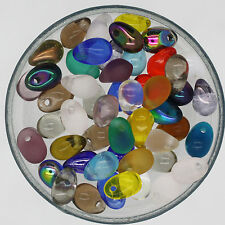 Raindrop Teardrop 6mmx 4mm Czech Glass Bead Mix Assorted Colors & Finishes pk/50