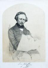 c1850 Scheffer Ary Maler Getönte Lithographie Mieling