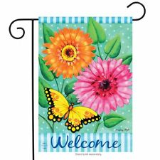 "Sunshine Daisies Spring Garden Flag Floral Butterfly 12.5"" x 18"" Briarwood Lane"