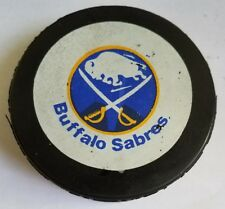 VINTAGE BUFFALO SABRES LOGO GAME PUCK  VICEROY made in canada
