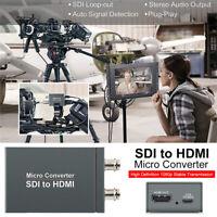 SDI to HDMI + SDI Mini HD Video Micro Converter 1 to 2 Audio Format Detection A