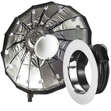 80cm Silver Folding Beauty Dish / Softbox to fit Profoto Studio Flash