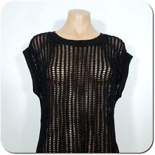 APT.9 Women's Black Chunky Sweater Top, Sleeveless size S