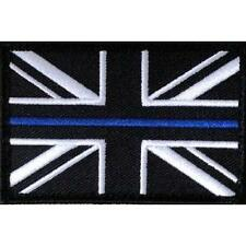 Thin Blue Line Large - Police - Union Flag Sew On Patch + Velcro Backing NEW