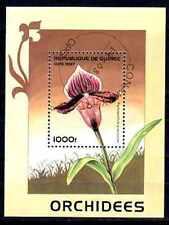 Fleurs - Orchidées Guinée (124) bloc oblitéré