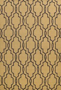 Trellis Oriental Area Rug Wool Hand-Tufted Contemporary 9'x12' Geometric Carpet