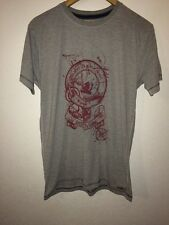 ALS Organic Cotton Mix T Shirt Top Size S Grey With Picture To Front <R5670