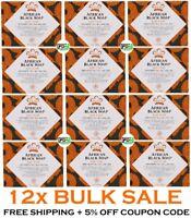 12x Nubian Heritage Soap Bars AFRICAN BLACK Organic Aloe Vitamin E Anti Blemish