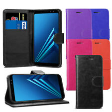 For Samsung Galaxy A5 A8 2018 Case A530F- Leather Wallet Flip Case Cover+ Screen