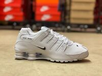 Nike Shox NZ EU Low Mens Running Shoes White Black 501524-106 NEW Multiple Sizes