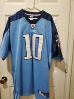 NFL Tennessee Titans On Field Jersey #10 Young Equipment Sewn Size 54 Reebok C4