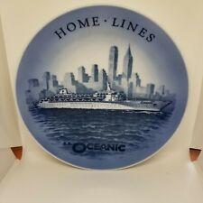 Ss Oceanic cruise ship, commemorative plate, Royal Copenhagen