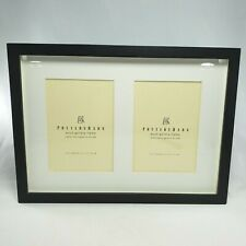Pottery Barn Espresso Wood Frame Double Openings 5 x 7 Acid Free Mattes