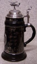 Beer Stein with lid Military History Helicopter 0.75 L NEW Made in Germany boxed