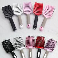 Hair Comb Massage Abody Scalp Detangle Hairbrush Nylon Brush Women Wet Bristle