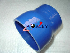 "2.75"" to 3"" 70mm-76mm Silicone Straight Hose Turbo Intercooler Intake Pipe BLUE"