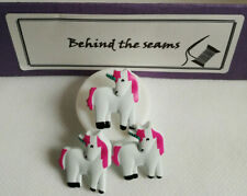 5 x UNICORN SHAPED BUTTONS Size Approx 25mm x 15mm ~ NOVELTY ~ CHILDREN ~ CARDS