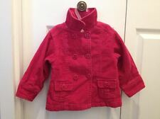 Baby Toddler Girl Winter Spring fall Coat outerwear fuchsia 18-24M joe fresh