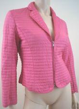 STRENESSE Blue Women's Pink Ruched Detail Fitted V Neck Jacket UK10 IT44 FR40