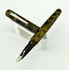 PSP Ranga 4CS Fountain Pen - Sheaffer Imperial Steel Nib, Yellow Ripple Ebonite