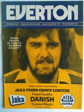 1977/78 Everton v Manchester United 1st Division