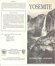 Yosemite National Park Map 1959 Campsites, Recreation, Plants, Animals, Admin VG