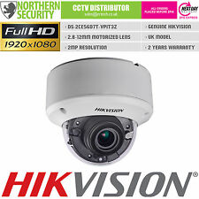 HIKVISION 2MP 1080P HD-TVI TURBO 2.8-12MM MOTORIZED IR DOME CCTV SECURITY CAMERA