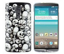 Custodia Protettiva F LG g3 d855 Custodia Case Cover in silicone TPU morti teste Skull Zombie