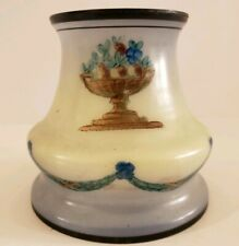 Antique 1800's Small Victorian Hand Painted Glass Pendant Tulip Lamp Shade Globe